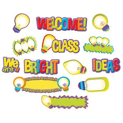 lights bulletin board color my world light bulb mini bulletin board set eureka