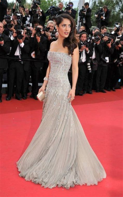 Carpet Clothes From Gorgeous Couture by Salma Hayek Gorgeous Silver Couture Gown On Carpet