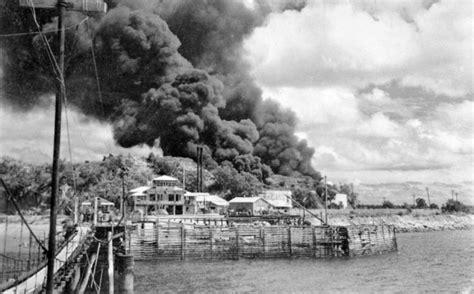 darwin 1942 the japanese oil tanks burning in darwin february 1942 second world war te ara encyclopedia of new zealand