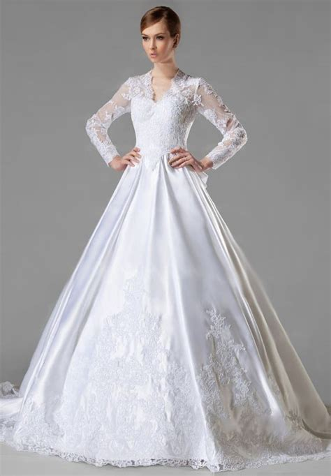 vintage wedding dresses long sleeve an attractive