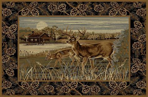 Deer Bathroom Rugs by Camo Rugs 2 X 4 Lakeside Deer Rug Camo Trading