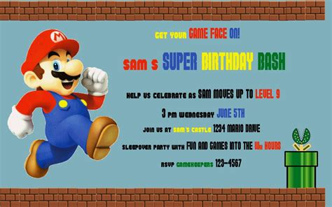 mario party invitations gangcraft net