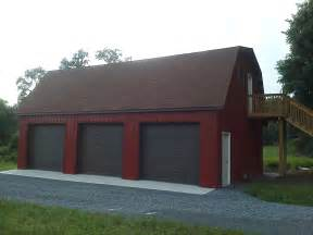 Car pole garage with gambrel roof customer projects september