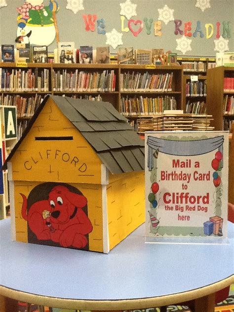 clifford the big red dog house clifford the big red dog 50th birthday library displays