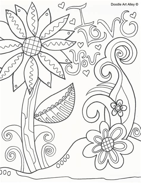 doodle alley mothers day coloring