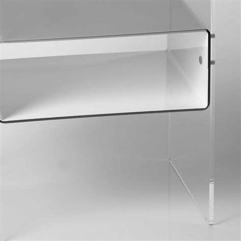 comodini plexiglass comodino con 1 ripiano struttura in plexiglas 8 mm