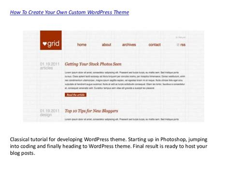 wordpress tutorial for developers video few theme development tutorials for wordpress