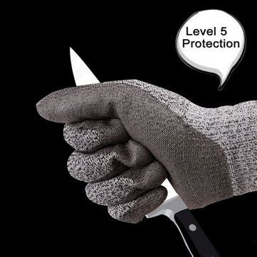 Cut Resistant Gloves Anti Cutting Food Grade Level 5 Kitchen Butcher P cut resistant gloves level 5 protection food grade en388 certified safety gloves for outdoor