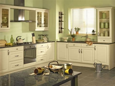Green Kitchen Walls by Gloss Ivory Kitchens Green Walls Google Search Kitchen