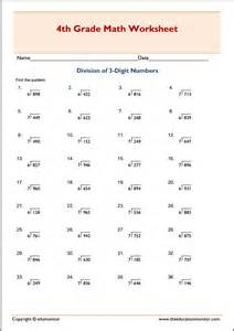 three digit division no remainders math worksheets
