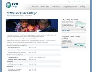 txu outage map txu report a power outage