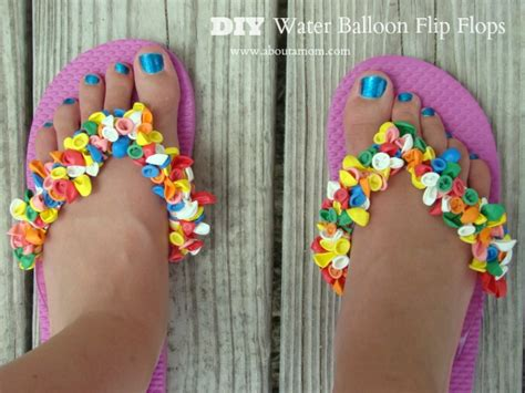 Diy water balloon flip flops craft about a mom