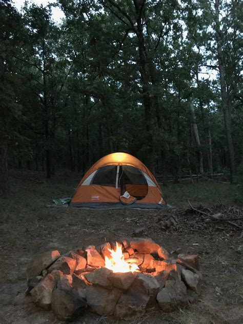 southeast oklahoma hill country camping hiking outdoors