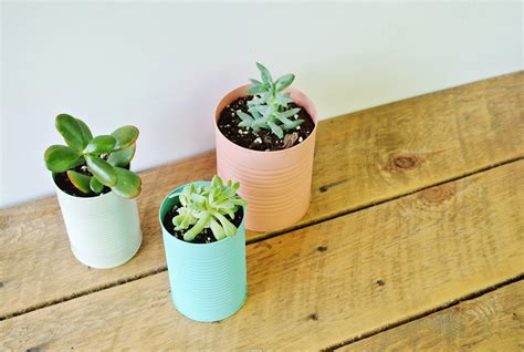 planters diy easy diy tin can planters