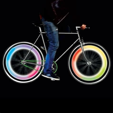 rainbow lava l multicolor set de lumi 232 res pour les roues de v 233 lo p 233 dalez en toute
