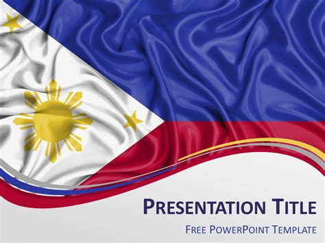 powerpoint themes free download philippines philippines flag powerpoint template presentationgo com