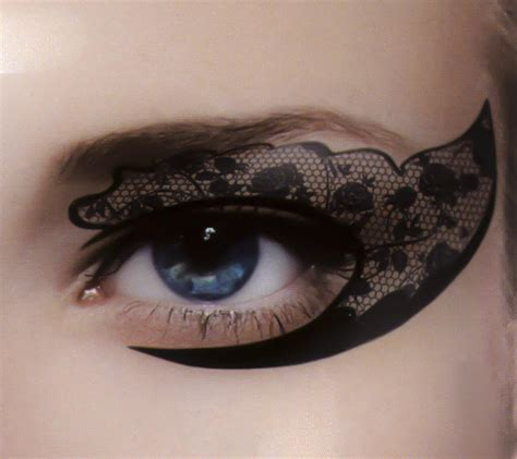 black eyeliner tattoo black rose lace eye liner temporary from dysfunctional doll