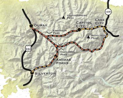 alpine loop colorado map colorado haunts alpine loop back country byway