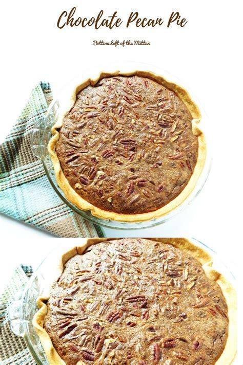 chocolate pecan pie bottom left   mitten