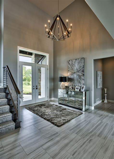 Gray foyer ideas entry beach style with timeless design