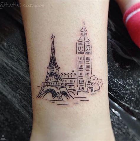 paris tattoo big ben londres torre eiffel tattoos pinte