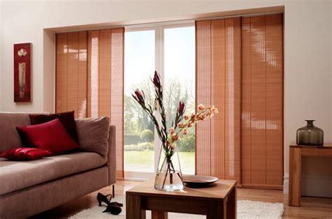Bambo panels curtains for sliding glass doors