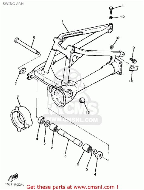swing components list yamaha xv920k virago 1983 swing arm schematic partsfiche