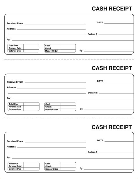 free printable receipt templates 11 free printable receipt pay stub template