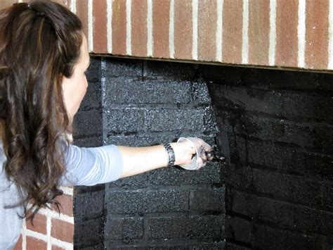 can you paint the inside of a gas fireplace painted brick fireplace makeover how tos diy