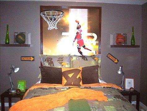 decoracion habitacion juvenil baloncesto dormitorios tema baloncesto dormitorio juvenil
