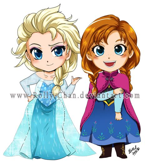 wallpaper frozen chibi frozen elsa and anna by rolly chan on deviantart