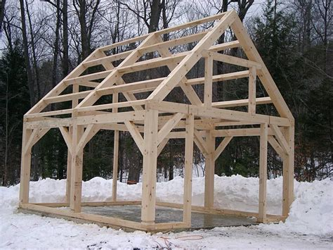 timber frame shed   build shed frame timber
