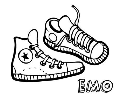 imagenes de unas zapatillas para dibujar dibujo de zapatillas para colorear dibujos net