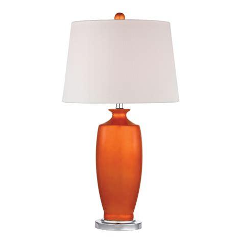 orange table l shade district17 tangerine orange ceramic table l with white