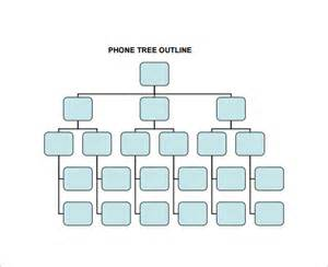 phone tree template printable phone tree template 15 free word excel pdf