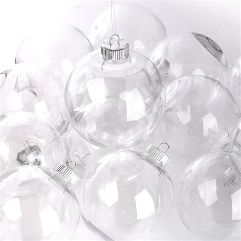 clear plastic ball ornaments christmas ornaments