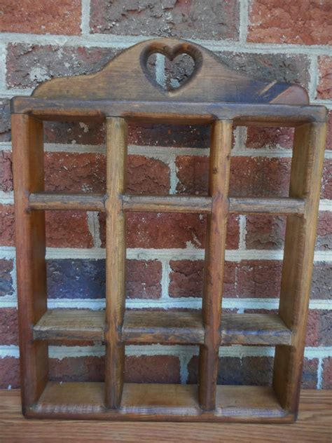 vintage country style wall wooden shelf display rack what