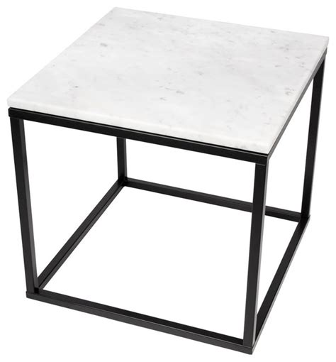 Marble Side Table Temahome Prairie 20 Quot X20 Quot End Table With Marble Top View In Your Room Houzz