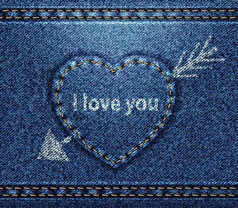 jeans pattern for photoshop raster jeans heart blue denim texture stock photo