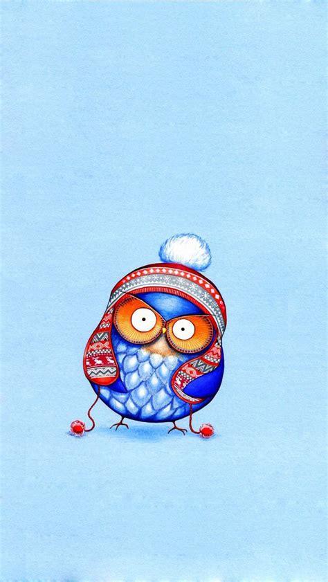 wallpaper iphone owl cute cute cartoon owl art wallpaper free iphone wallpapers