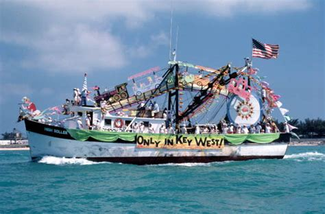 boat service group key west florida memory blessing of the shrimp fleet off mallory