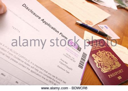 Passport Criminal Record India Passport With Application Form Stock Photo Royalty Free Image 66518057 Alamy