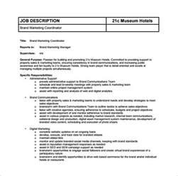 Marketing Coordinator Description Template by Doc 585572 Digital Marketing Description Marketing Coordinator Description Template
