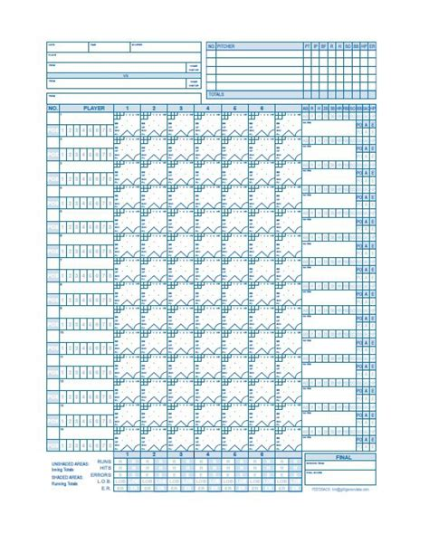 softball scorecard template doc 585535 softball score sheet template sle