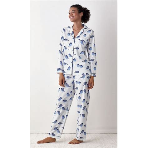 Poplin Set birds poplin cotton womens pajamas set the company store