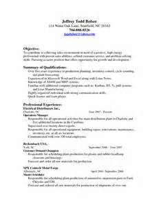 Scheduler Resume by Resume Planner Scheduler