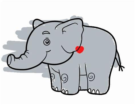 imagenes de elefantes faciles para dibujar dibujos de elefantes para colorear dibujos net