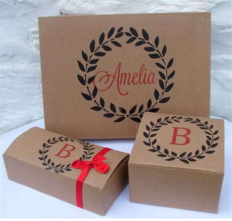 personalised monogram gift boxes by seahorse