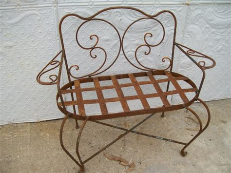 wrought iron loveseat bench wrought iron child s swirl loveseat bench