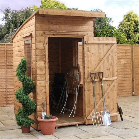 aero curved roof shiplap wooden shed departments